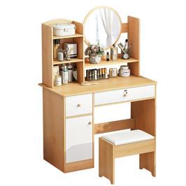 梳妆台卧室小型现代简约收纳柜一体小户型网红ins风化妆桌化妆台