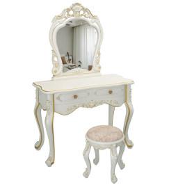 欧式化妆梳妆台桌卧室现代简约收纳柜一体网红ins风轻奢高档小型