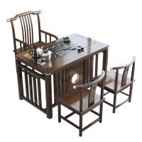 阳台茶桌椅组合实木禅意功夫茶台新中式简约客厅家用小户型茶几