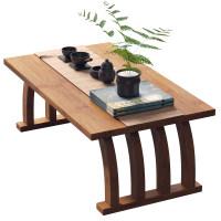 中式飘窗小茶几榻榻米简约窗台阳台楠竹茶桌矮桌地毯小型桌子坐地