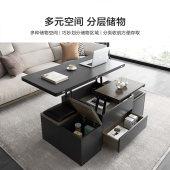 多功能创意伸缩升降茶几餐桌两用 简约现代客厅独特北欧小户型
