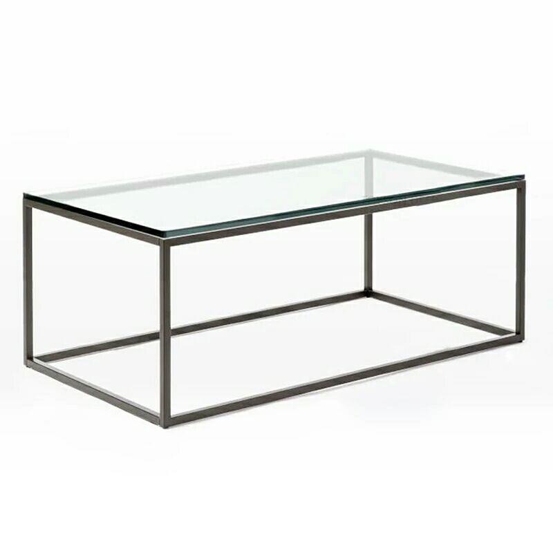 北欧个性创意茶几钢化玻璃面客厅长方形小桌子现代简约美式透明