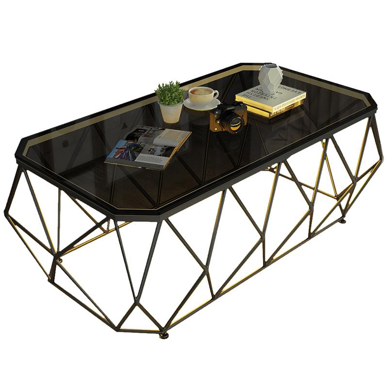 钢化玻璃茶几桌北欧轻奢现代简约客厅小户型家用网红ins风大理石