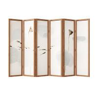 新中式屏风隔断客厅折叠移动遮挡家用酒店装饰办公室实木定制折屏