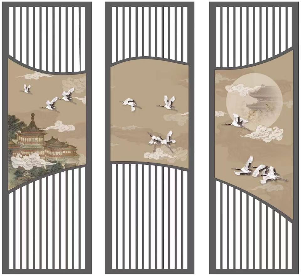 新中式木质屏风实木花格隔断墙挡煞镂空玄关柜入户客厅进门办公室