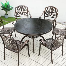 户外铸铝桌椅三五件套室外休闲露天阳台花园庭院防水铁艺桌椅组合