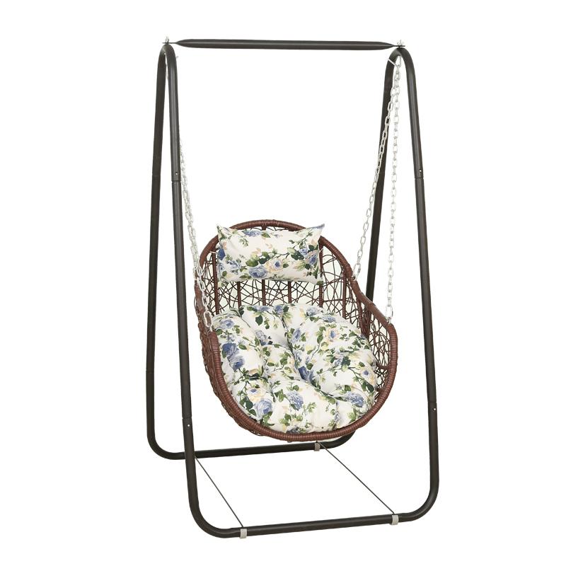 吊篮藤椅单人儿童秋千室内外家用摇椅阳台吊兰鸟巢摇篮椅千秋吊椅