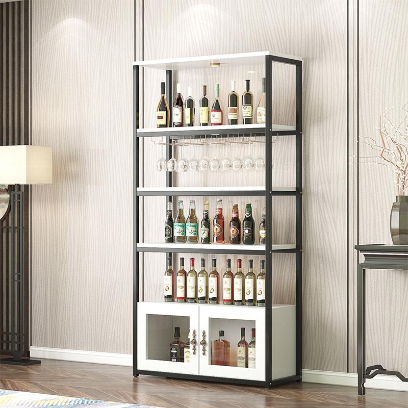 红酒酒柜客厅家用落地酒瓶架子工业风葡萄酒架现代简约展示置物架