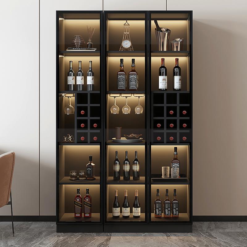 轻奢酒柜现代简约客厅柜子靠墙边柜玻璃高档展示柜家用小型储物柜
