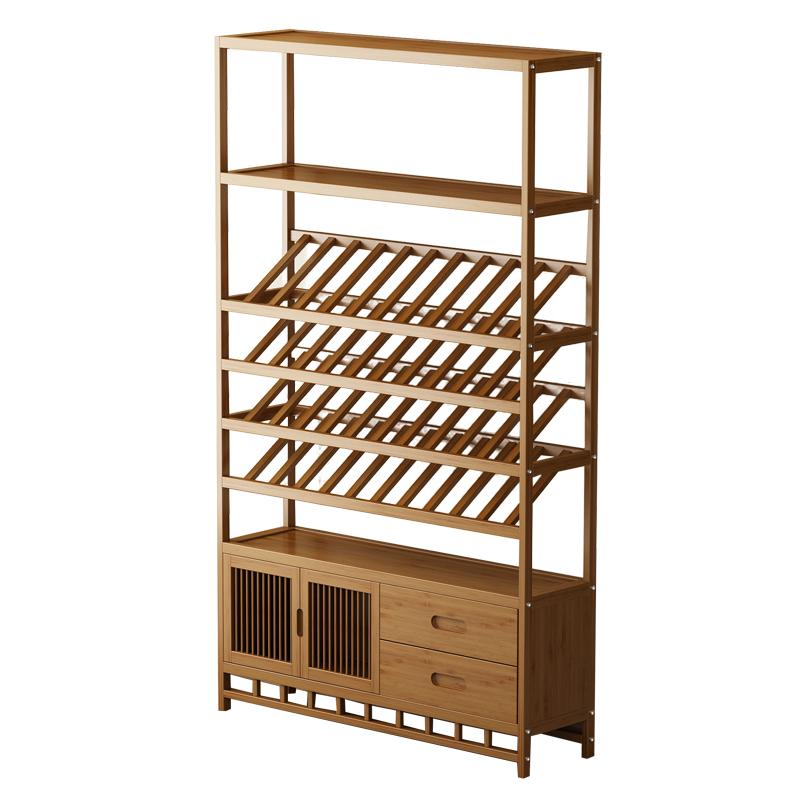 红酒架置物架摆件家用展示架酒柜吧台挂壁餐厅柜储物架子实木落地