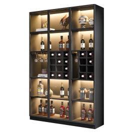 玻璃酒柜简约现代家用靠墙酒水柜轻奢客厅展示柜高档红酒柜储物柜