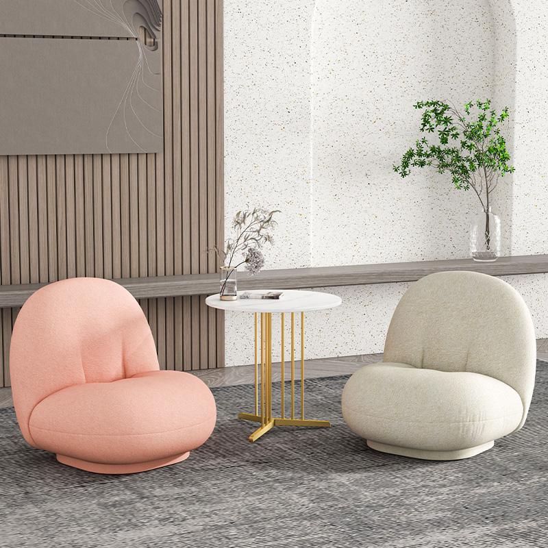 懒人沙发椅子榻榻米单人羊羔绒创意北欧网红卧室阳台休闲小沙发椅