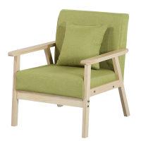 沙发椅子简易小户型现代简约实木服装店单双三人座出租房卧室客厅
