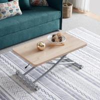 多功能升降茶几秒变餐桌桌子两用折叠移动饭桌简约小户型伸缩实木