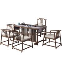 新中式茶桌椅组合实木功夫简约现代茶台办公茶几茶具套装禅意一体