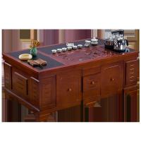 火烧石茶几中式现代客厅实木泡茶桌椅组合一体办公室简约功夫茶台
