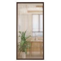 木框长虹玻璃隔断玄关墙现代简约办公室木质客厅钢化艺术装饰屏风