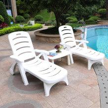 泳池躺椅庭院户外阳台室外床露天沙发露台花园阳光房沙滩折叠躺床