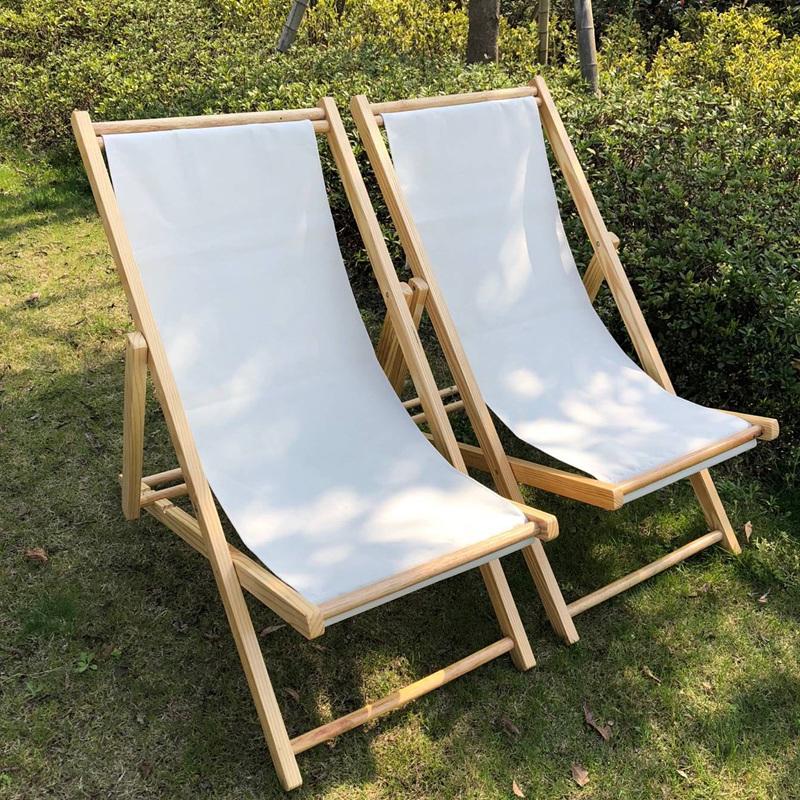 实木沙滩椅木质躺椅折叠椅牛津帆布椅午休椅便携椅陪护椅逍遥椅