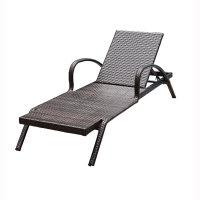 莫家户外躺椅 别墅庭院游泳池沙滩椅 露天露台阳台休闲藤编躺床