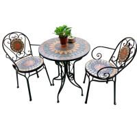 欧式铁艺休闲阳台桌椅庭院户外室外咖啡厅凉亭网红小茶几三件套